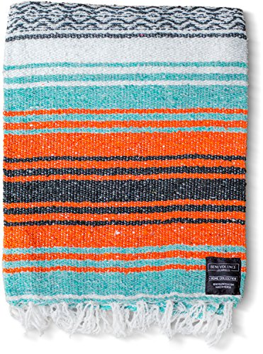 Mexican Blanket, Falsa Blanket | Authentic Hand Woven Blanket, Serape, Yoga...