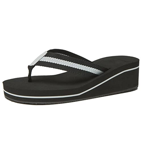 b0924eb65 NewDenBer Women s Comfortable Wedge Flip-Flop