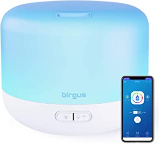 Smart Wifi Enable Essential Oil Aromatherapy Diffuser, works with Alexa, Google Home & APP (300ml)