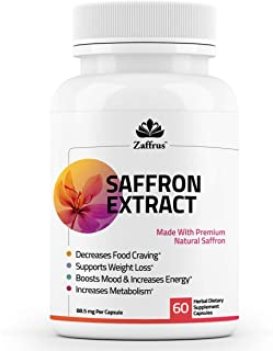 Sponsored Ad - Zaffrus - Pure Saffron Extract to Support Healthy Weight Loss, Natural Appetite Suppression, Boost Mood, An...