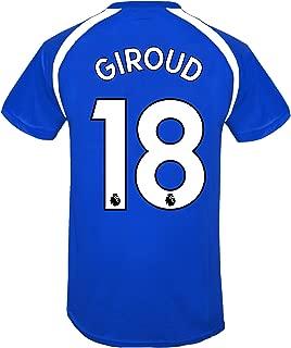 Chelsea FC Boys Giroud 18 Poly Training Kit T-Shirt Blue 12-13 Years