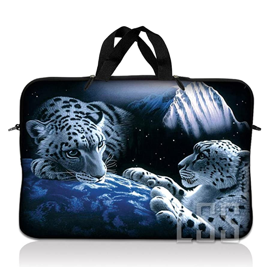 LSS 13.3 inch Laptop Sleeve Bag Compatible with Acer, Asus, Dell, HP, Sony, MacBook and more | Carrying Case Pouch w/Handle,Mountain Lions