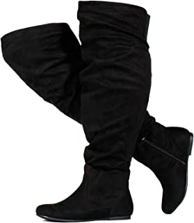 Women's Wide Calf Over The Knee High Slouchy Boots