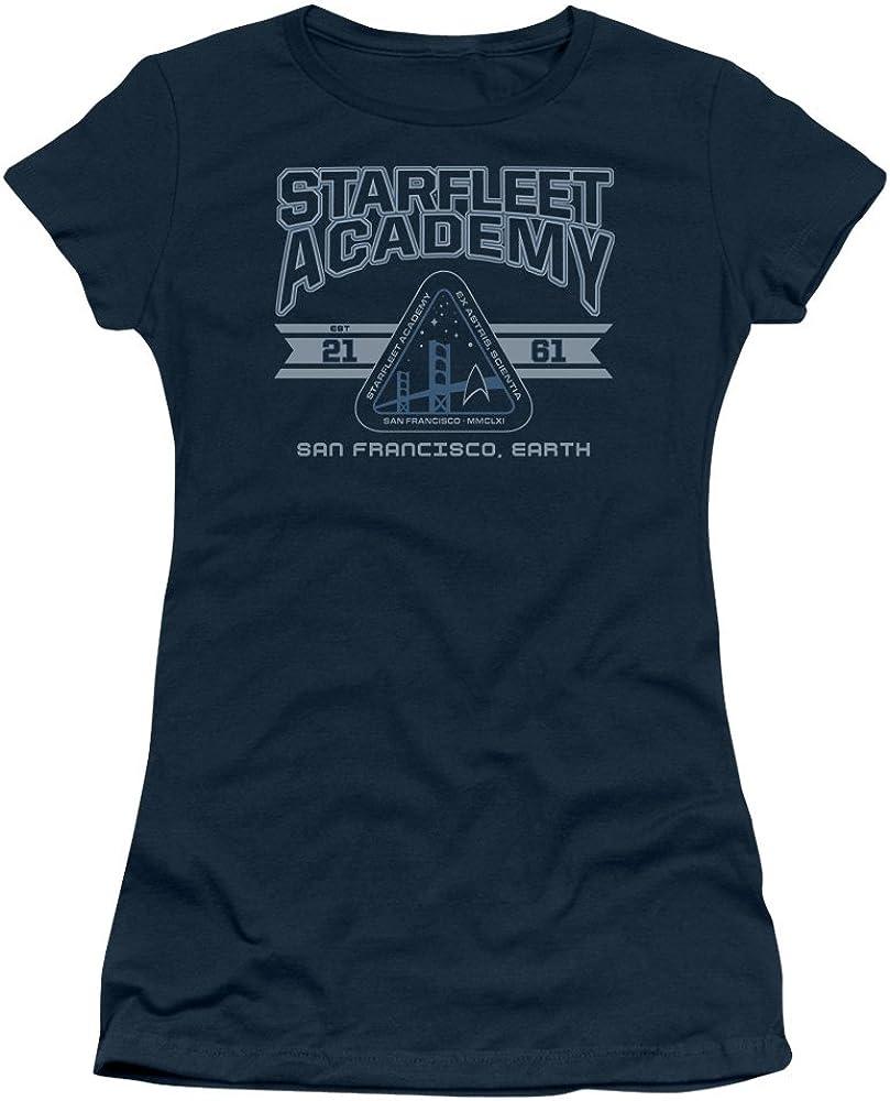 Juniors: Star Trek-Starfleet Academy Juniors Rapid Popular standard rise Slim Earth T-Shir