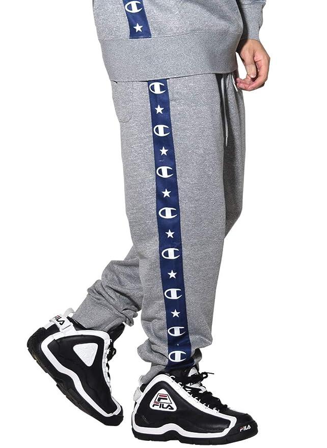 実現可能社会科スタック[Champion(チャンピオン)] スウェットパンツ メンズ ジョガーパンツ 裏起毛 キャンパス サイドライン