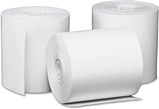 "Universal 35763 Single-Ply Thermal Paper Rolls, 3 1/8"" x 230 ft, White (Case of 50)"