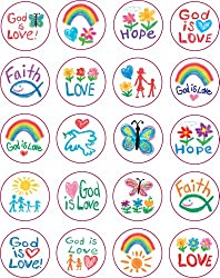 Christian Faith Shape Stickers