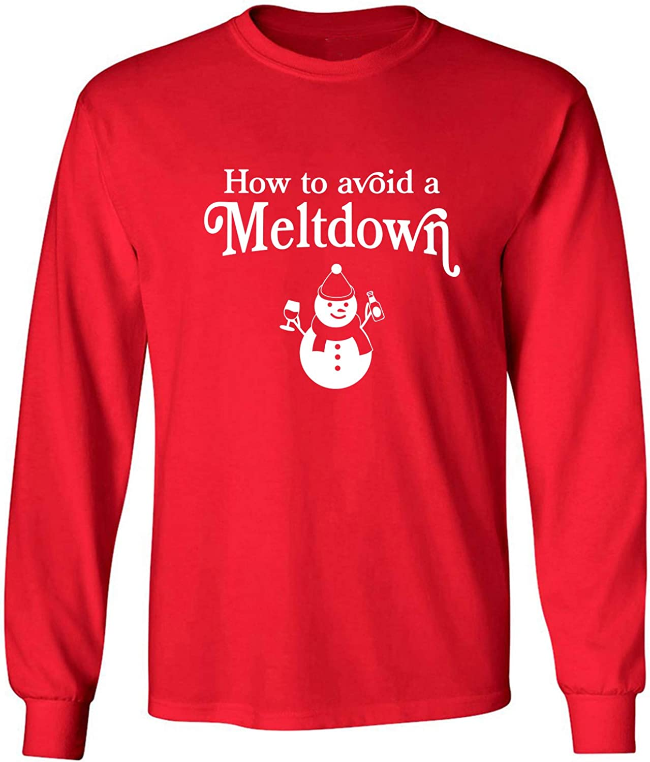 How to Avoid A Meltdown Adult Long Sleeve T-Shirt in Red - XXX-Large