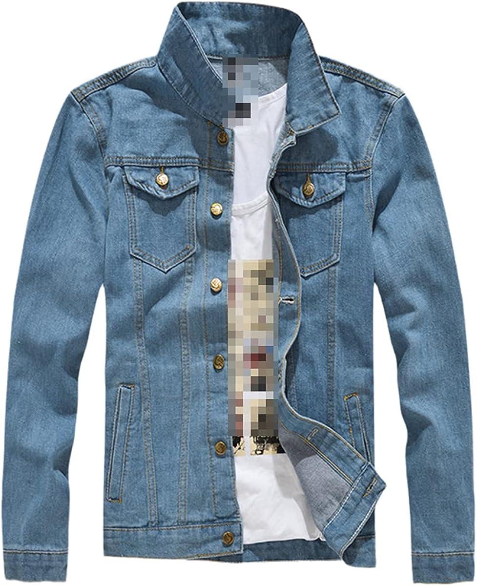 Men's Spring And Autumn Models Plus Size Denim Jacket Trend Simple Jacket Fashion Casual Jacket