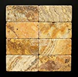 Scabos 3X6 Tumbled Travertine Tile