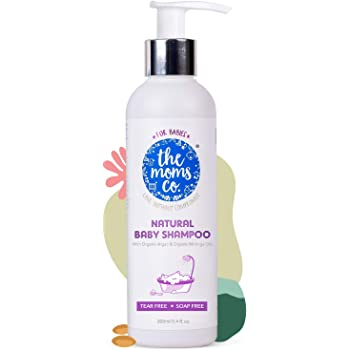 The Moms Co. Tear-Free Natural Baby Shampoo | Australia-Certified Toxin-Free | with Conditioners and USDA-Certified Organic Argan Oil (200 ml)