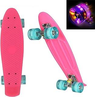 "WeSkate Mini Cruiser Skateboard Retro Komplettboard, 22"" 55cm Vintage Skate Board.."