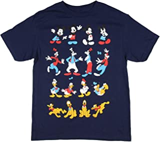 Seven Times Six Disney Boy's Mickey Goofy Donald and Pluto Multiple Poses T-Shirt