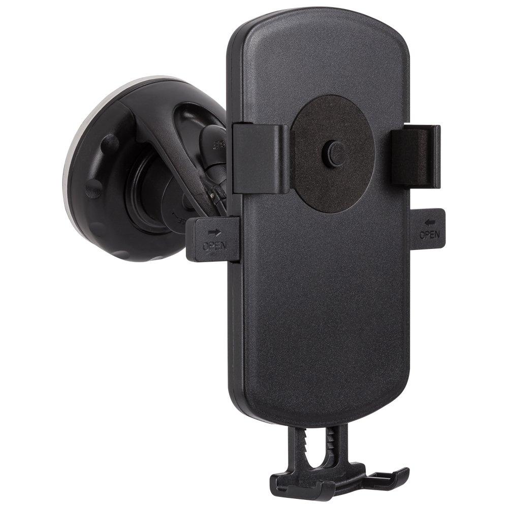 Arkas UU6スロープGPS /スマートフォンカーホルダー、調節可能なアダプター幅ブラック