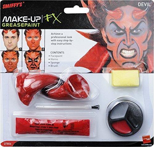 Smiffy's-37806 Kit de maquillaje de demonio