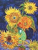 Van Gogh Pianificatore 2021: Vaso con Cinque Girasoli | 12 Mesi | Con Calendario 2021 | Organizer & Diario | Post Impressionismo | Pittore Olandese | Agenda Giornaliera 2021