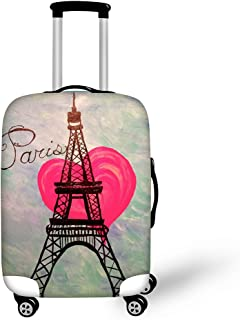 CHAQLIN Fashion Eiffel Tower Printed Luggage Suitcase Covers 18