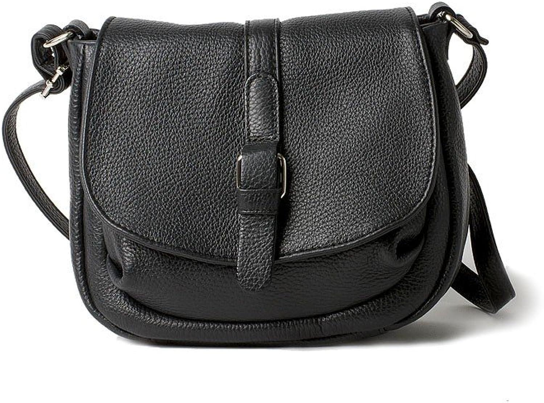 BRUNO ROSSI Italian Leather Medium full grain leather women's shoulder bag  PEONIA  SMALL