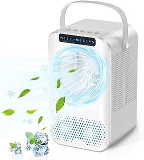 Raffreddatore d'aria 600ML Portatile, 4 in 1 Climatizzatore, Umidificatore, Ventilatore, Mini Condizionatore d'aria Person...