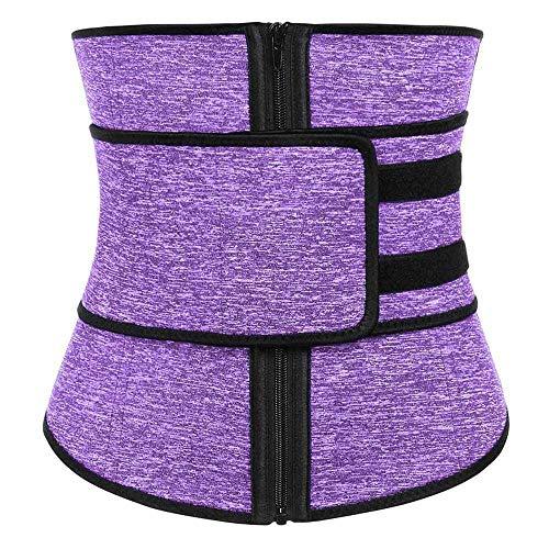Belleza Abdominal Cinturón de Alta Compresión Cremallera Más Tamaño Neopreno Cintura Cincher