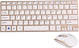 WYAN AE HK3910 2.4GHz Wireless 78 Keys Metal Ultrathin Keyboard with Keyboard Cover + Wireless Optical Mouse with Embedded...
