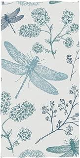 senya Blue Dragonfly Hand Towel Ultra Soft Luxury Towels for Bathroom 30
