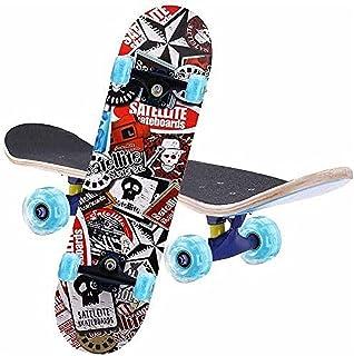 Skateboard Complete 7 Layers Deck 80 * 20cm Skateboard Maple Wood Longboards for Adults Teens Youths Beginners Girls Boys ...