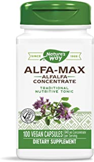 Nature's Way Premium Herbal Alfa-Max, 840 mg concentrate per serving, 100 Capsules
