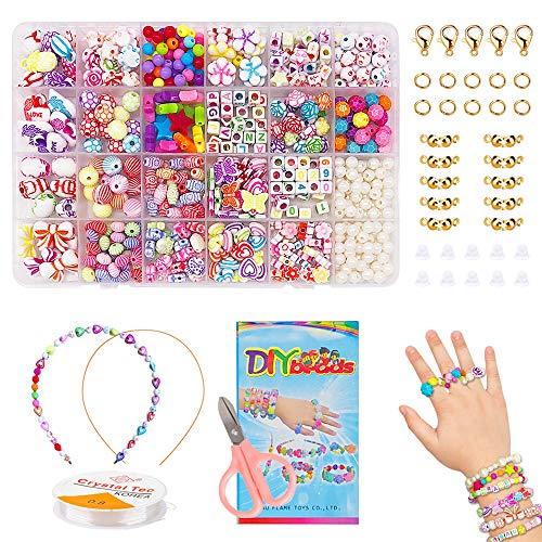 BLAZOR Perlen Zum Auffädeln, Armbänder Selber Machen, DIY Perlen Set Halskette Armband Ringe, Geburtstagsgeschenk Für Mädchen