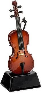 Cello Music Instrument Miniature Replica on Stand, Size 5 in.