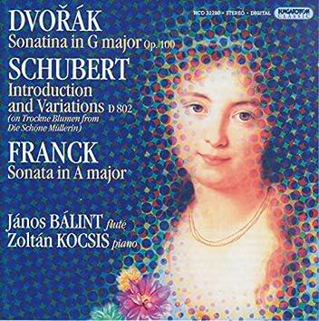 Dvorak / Franck: Violin Sonatas (Arr. for Flute and Piano) / Schubert: Variations On Trockne Blumen