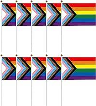 10 Stuks Regenboog Gay Pride Rainbow Stick Vlag Handheld Regenboogvlaggen Mini Kleine Regenboogvlag Lgbtq Flagge Gay Vlag ...