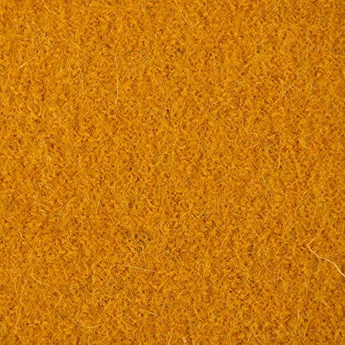 SCHÖNER LEBEN. Mantelstoff Bekleidungsstoff Walkloden Wolle Wollstoff Ocker gelb 1,40m Breite