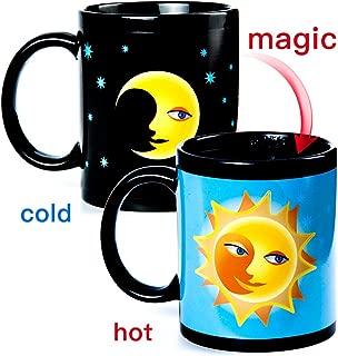Magic Heat Changing Coffee Mug - Moon change Sun Funny Cup, Thermometer Sensitive Porcelain Tea Ceramic Coffee Cup, 10 OZ