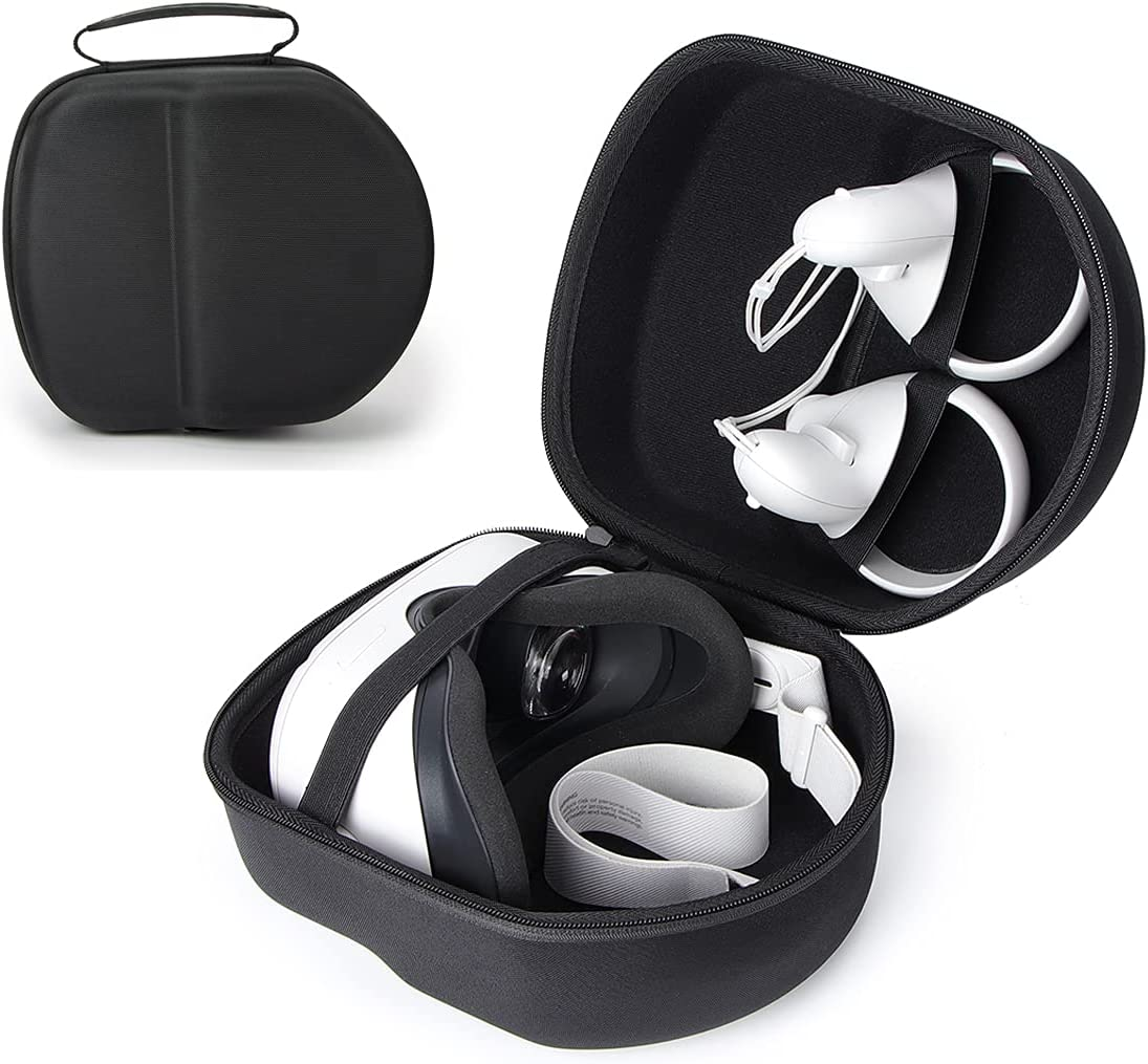 Carrying Case Compatible with Oculus Quest 2, VR Headset and Controller Mini Portable Travel Storage Case (Black)