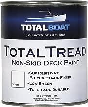TotalBoat TotalTread Non Skid Deck Paint (White, Quart) | Marine-Grade Anti Slip Traction Coating