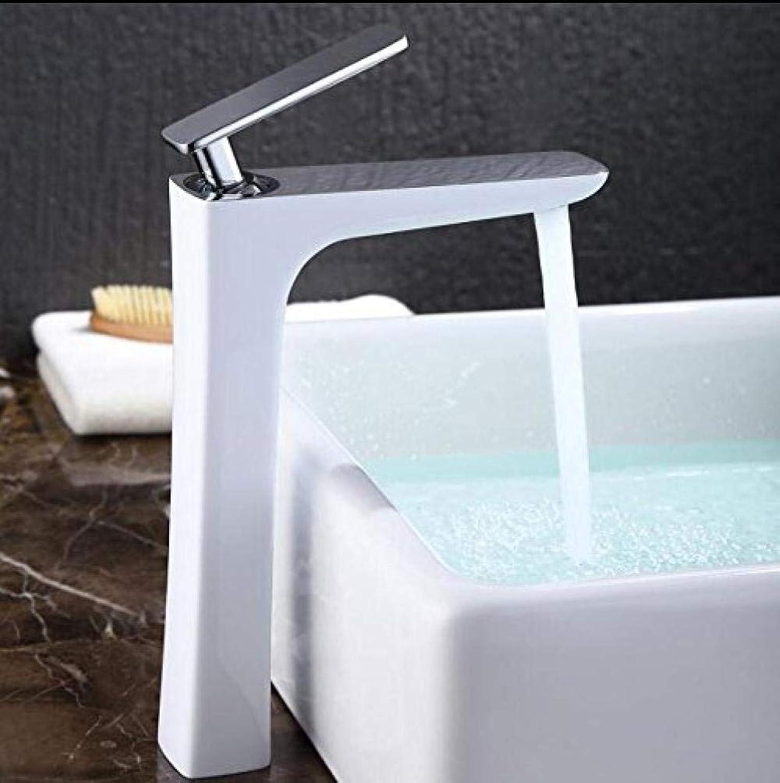 Waschtischarmatur Wei Waschtischmischer Messingkran Badarmaturen Warm- und Kaltwasser Mischbatterie Zeitgenssische Mischbatterie