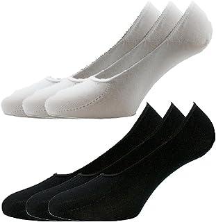 Fontana - 12 pares de calcetines invisibles, higiénicos, de algodón de hilo de Escocia elastizado