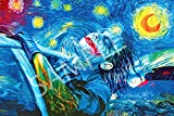 Best Print Store - Heath Ledger Inspired, The Starry Night Joker Poster (24x36 inches)