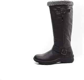 LifeStep Women's Winter Warm Faux Fur Lined Zipper Snow Boots