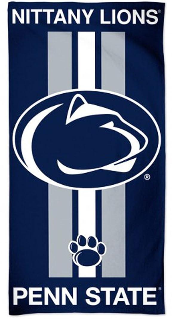 ノミネートコメント軽蔑するWinCraft Penn State PSU Nittany Lionsファイバービーチタオルストライプ30?x 60インチ