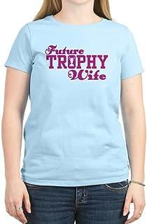 Future Trophy Wife Women's Pink Crew Neck Tee