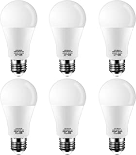 E27 LED Bombilla,14W equivalente a 120W,Luz Blanca Cálida 2700k,1200 lumen,No regulable,Pack de 6 Unidades