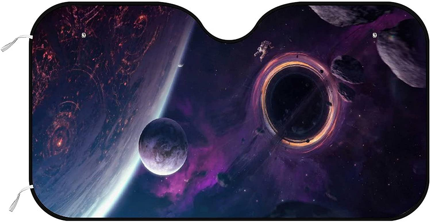NONOYES Windshield Sun Shade Black Hole Planet Aut Space Designs Weekly update Al sold out.