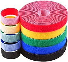 Darller 5 Roll Reusable Cable Straps Cable Ties Hook & Loop Nylon Fastening Tape Wire Organizer