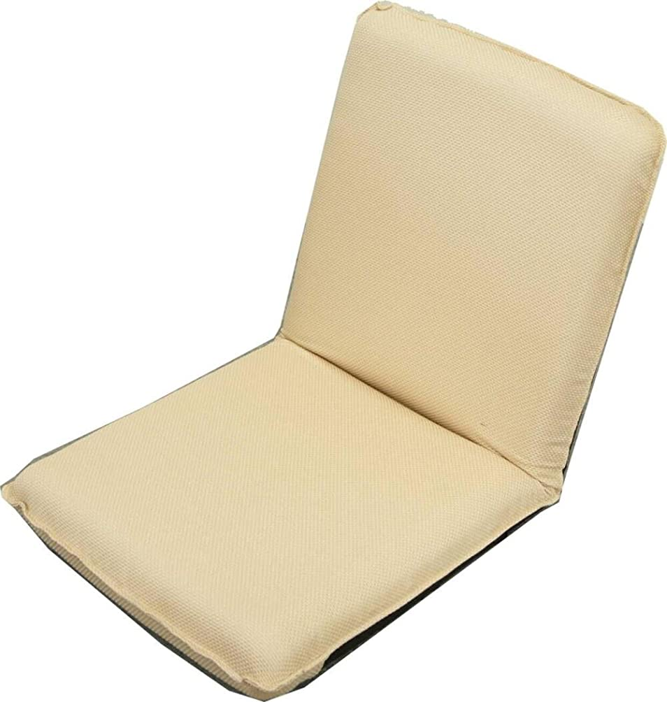 別の同情的あからさまコンパクトな小さな座椅子 「ピッコロ」 ギア式14段階リクライニングチェアー ベージュ 【日本製】