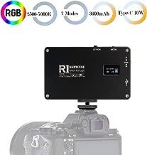 ANDYCINE Pocket Led Video Light 360 RGB Camera Light with Aluminum Body 192 LED 2500K-7000K CRI97 7 Light modes TYPE-C USB Charger for Cameras