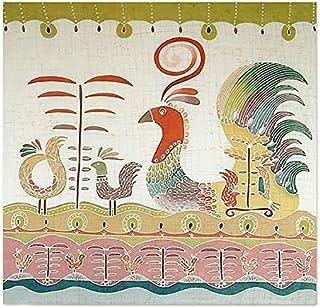 NOVICA Cotton Batik Wall Mural, Multicolor, 'Bird Fancy'
