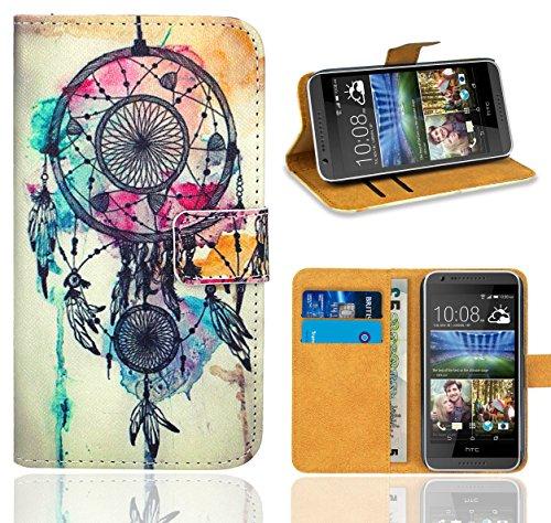 HTC Desire 620 Handy Tasche, FoneExpert® Wallet Hülle Flip Cover Hüllen Etui Ledertasche Lederhülle Premium Schutzhülle für HTC Desire 620 (Pattern 9)