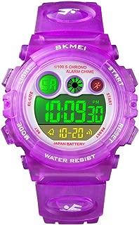WUTONYU Kids Watch Boys Girls LED Sport Outdoor Digital Watches Child 164FT Waterproof Alarm Stopwatch Quartz Wristwatch